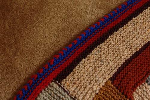 Log Cabin Afghan detail
