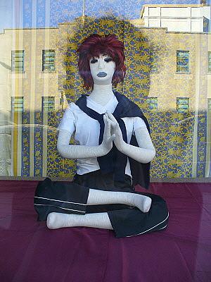 Creepy yoga chick
