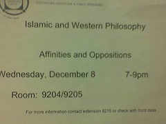 lecture on western & islamic philosophy