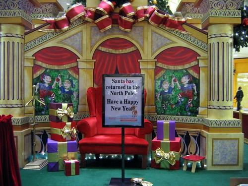 Mall Santa Has Returned To North Pole