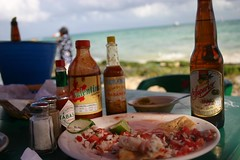 Ceviche and Beer on The Beach