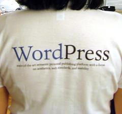 Wordpress on the back