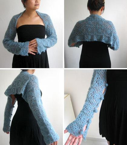blue scarf / shawl