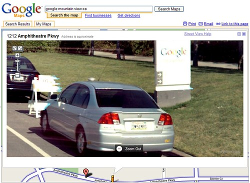 Street view license plates