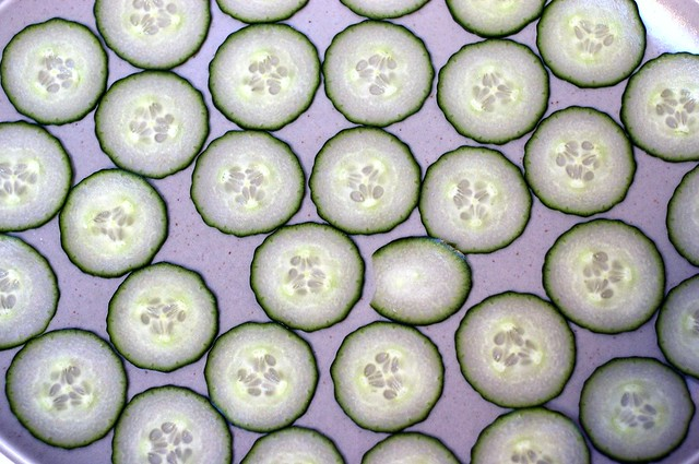 dizzying array of cucumbers
