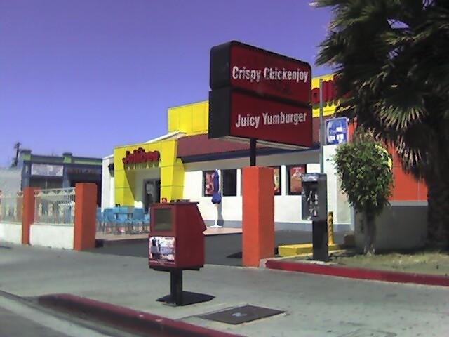 funny LA chicken sign