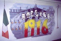 Mural sobre los l�deres de la rebelión de Pascua de 1916, pintado pro presos republicanos en la prisión de Long Kesh