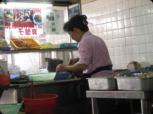 Sarawak laksa stall