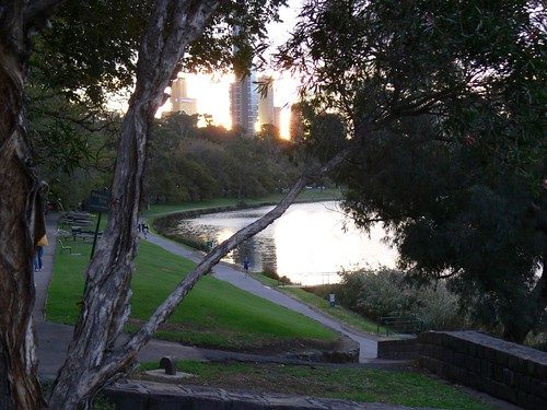 Sunset over the Yarra
