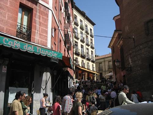 Cafe Steps Madrid, Spain