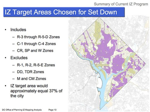 Inclusionary Zoning Map