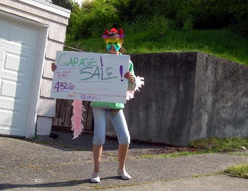 Garage sale sign waver