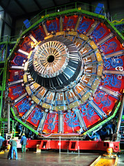 Detector assembly at one of the LHC experiments