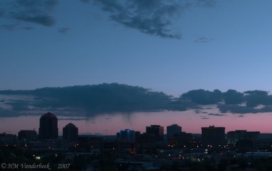 Sunset in Downtown Albuquerque