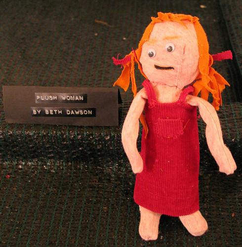 Plush woman by Beth Dawson