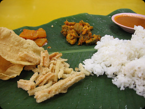 Banana leaf rice #1