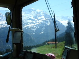 Jungfrau Blick aus Mürrenbahn