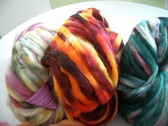 Corriedale Pencil Roving from Crown Mountain Farm