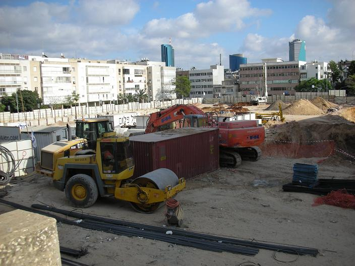 Construction at Habima