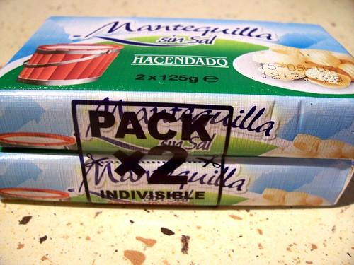 Mantequilla en pack de dos