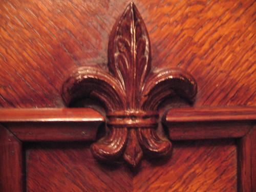 Carved Fleur de Lys