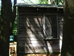 Edna St. Vincent Millay's writng cabin, outside