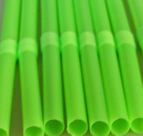acid green bendy straws by Rakka.