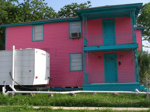 Happy House with Fema trailer