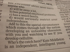 Hmmm...a questionable relationship advice from...