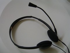 Earphone & mic headset