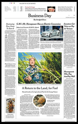 N.Y. Times Cover Biz Section
