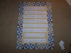 You are my sunshine quilt-words layout
