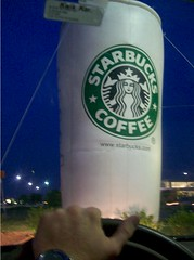 Giant Starbucks Cup