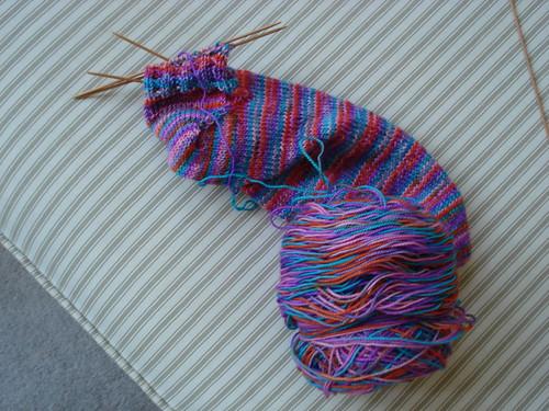 Kona Sock #2 grows a heel