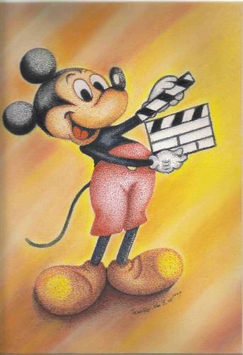 簽字筆點畫粉彩_Mickey Mouse_3