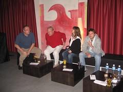 Roger, Stephan, Martina und Dominik im Papiersaal Sihlcity