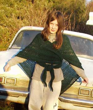 the shawl I knit for alice several years ago