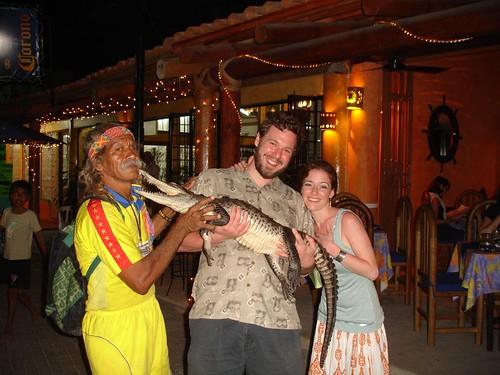crocodile and his master