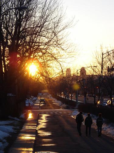 Suburban Sunset Streetscape