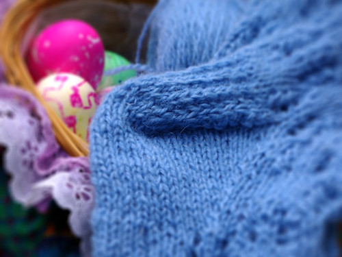 el talon del calcetin y huevos de pascua
