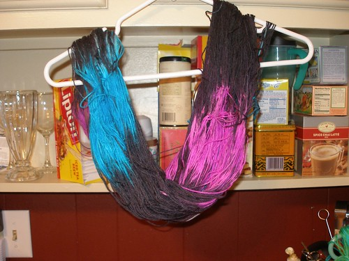 hand dyed by me
