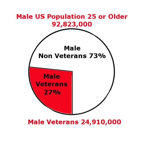 Male US Population vs Veterans