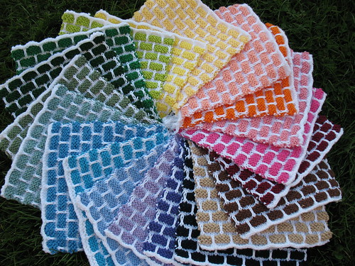 A Dishcloth Rainbow