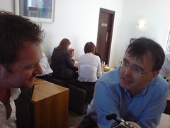 Nyle Wolfe and Conn O Muineachain at Limerick Open Coffee (Picture by Bernie Goldbach)