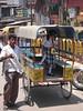 Schoolgirl and driver, Varanasi