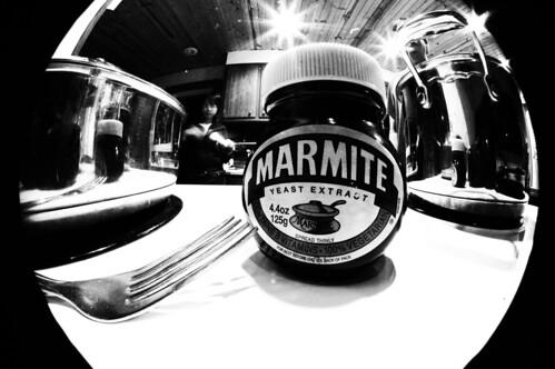 Marmite black and white