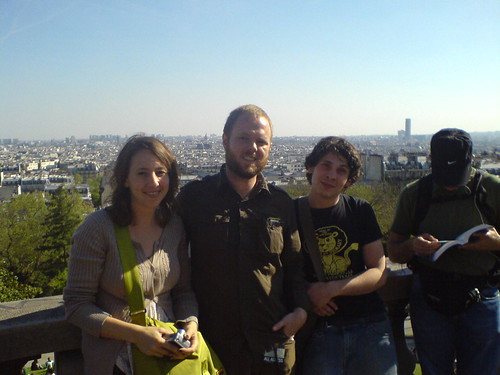 Rachel Eric and Thomas at the Sacre Coeur