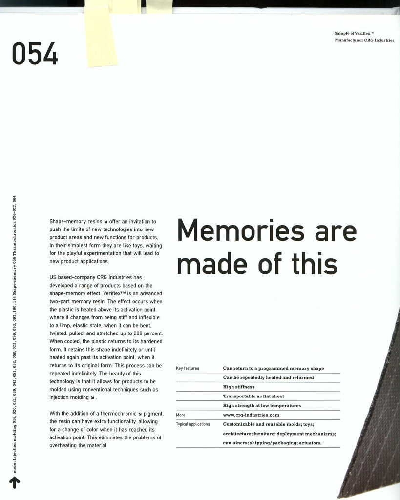 Plastic with memory