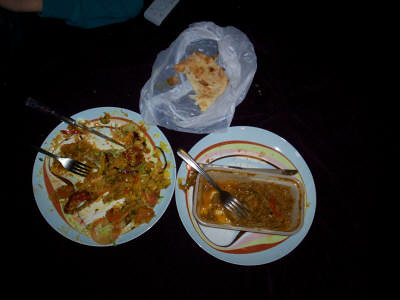 indian take away foooood yum yum!