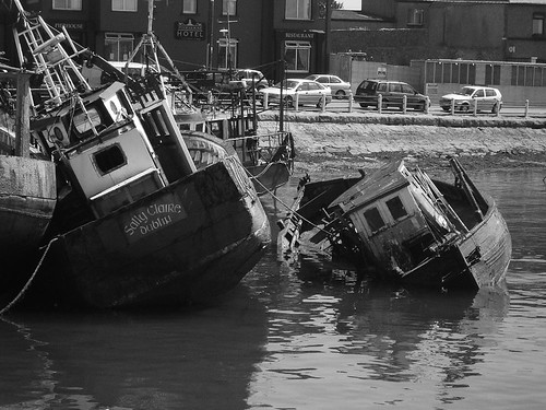 Skerries, abandoned boats